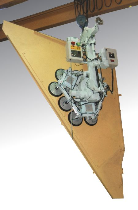 Wing Assembly Vacuum Lifter - 1100Kgs SWL. The Eurofighter wing assembly was