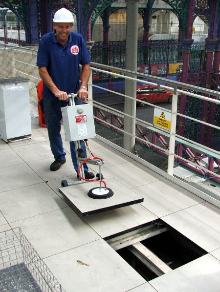 Vacuum floor tile lifters provide a quick, easy and safe way to
