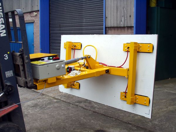 Fork Mounted Cladding Panel Vacuum Lifter - Panels can be powered through