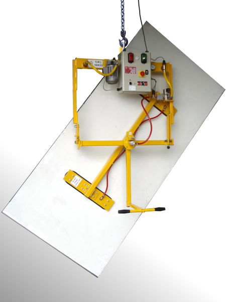 Vacuum lifter for small panels or boards with facility to tilt and