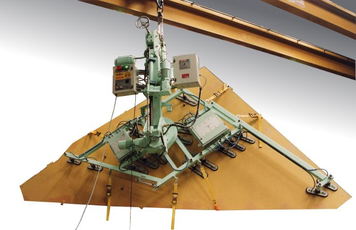 Composite Wing Vacuum Lifter - 800Kg SWL. Wing skins and co-bonded assemblies