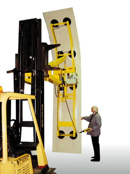 Tunnel Cladding Lifter - This fork mounted vacuum lifter was designed to