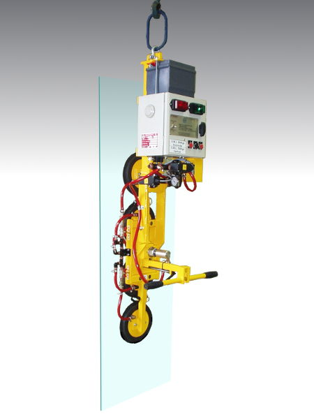 Four Pad Inline Multi-Function Glass lifter - Battery powered glass lifter. Lifts