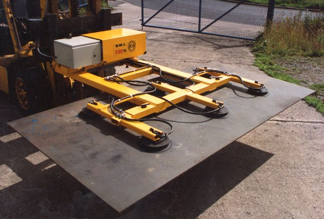 Low Profile Sheet Vacuum Lifter - The depth of the vacuum frame