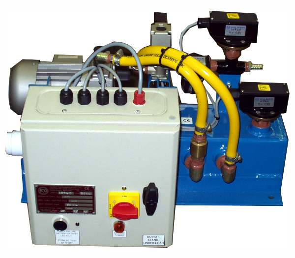 Vacuum pump unit for use with glass frames, designed to mounted on