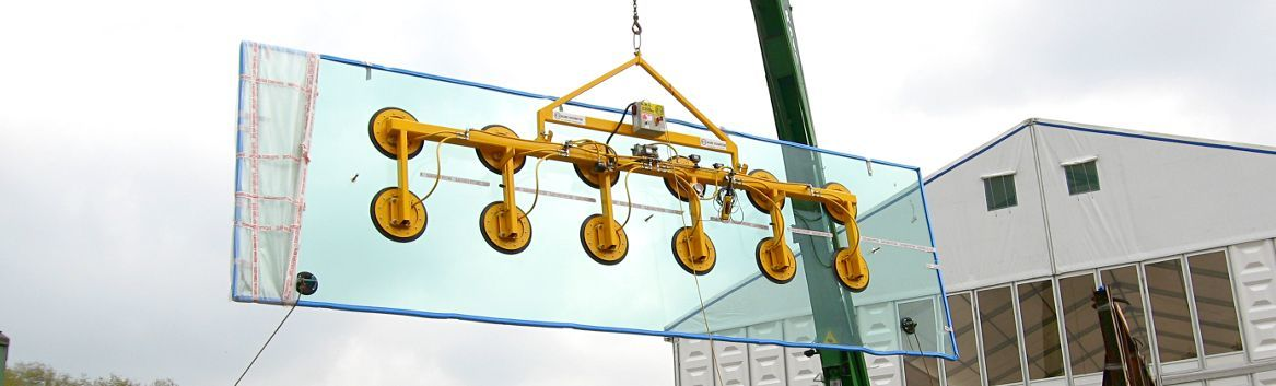 glass vacuum lifter for large plates of glass
